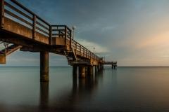 Sonnenaufgang an der Seebrücke