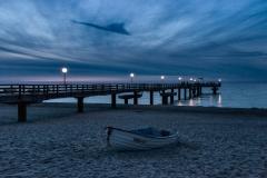 Abends an der Seebrücke